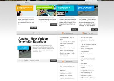 Página web de El Búfalo en WordPress