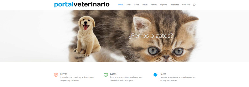 Portal WordPress para veterinarios y mascotas
