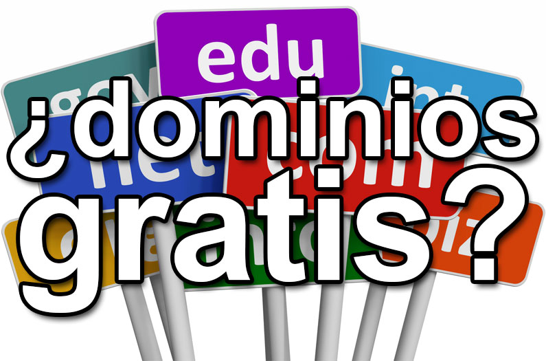 Dominios gratis para tu página web o tienda online